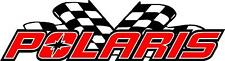 polaris racing flags snowmobile vinyl sticker decal 22""