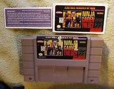 Ninja Gaiden Trilogy Snes Super Nintendo Authentic. Comes with replacement label
