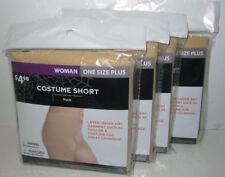 4 Costume Short Woman Nude Undergarment Boyshort Underwear Panty nylon spandex