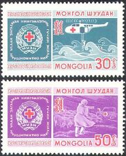 Mongolia 1969 Helicopter/Ambulance/Red Cross/Medical/Transport 2v set (n20995)