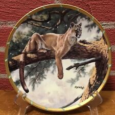Collector Plate by Lenox - Rocky Mountain Puma - Guy Coheleach Royal Cats Coll.