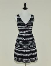 NEW J.CREW COLLECTION $275 ABSTRACT STRIPE DRESS 8 BLACK & WHITE SUNDRESS