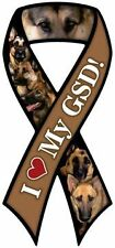 """I LOVE MY GSD!"" Car Ribbon Magnet  QUALITY"