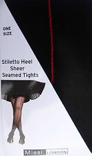Stiletto Heel Seamed Sheer Gloss Vintage  Style Tights- Sexy Tights-Seamed Tight