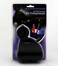 Protocol Air Compressor 250 PSI Compact Built-In Pressure Gauge Easy Storage New