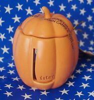Letter L Fall Pumpkin Jack O Lantern Tea Light Holder New HS3