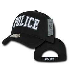 Black Police Officer Law Enforcement Cop Costume Baseball Mesh Cap Hat Caps Hats