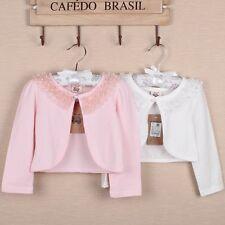 Ivory/Pink Bolero Shrug Short Cardigan for Bridesmaids/Flower Girls and Parties!