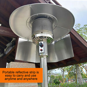Patio Heater Reflector Shield for Natural Gas and Propane Table Top Patio Heater