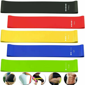 Resistance Bands Sports Home Gym Yoga Latex Fitness Singles or Full Pack