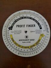 Vintage MONTGOMERY WARD Advertising PROFIT WHEEL Calculation