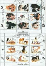 Sao Tome e Principe 1571-1588 Kleinbögen (kompl.Ausg.) gestempelt 1995 Hunde und