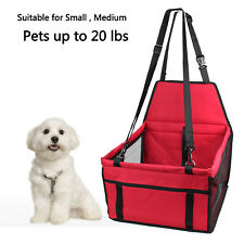 Foldable Pet Booster Seat Car Seat Carrier Protector Dog Lookout w/ Safety Leash