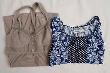 NEW Abercrombie Kids Lot of 2 Girls Lace Tank Top Floral Peasant Top Size Small