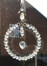 Clear Crystal Sun-catcher April Birthstone - Guardian Angel, Birthday Gift