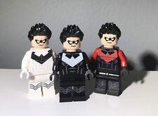 Lego Batman Nightwing CUSTOM PRINTED Minifigure Minfig Figure DC 7783 30606