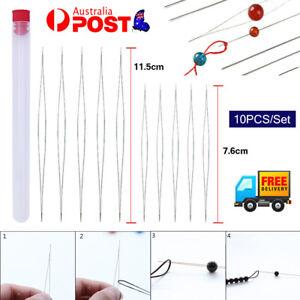 10PC Big Eye Beading Needles Easy Threading Tool for Bracelet Jewelry Making