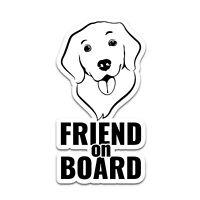 Friend on Board Hund Aufkleber 6,4x12cm Sticker Kind Autoaufkleber R118-02