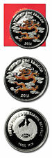 Laos Year of the Dragon 1000 Kip 2012  1 oz Colored Proof Silver Crown COA