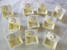 Kitschy Vintage Sunflower mint/ candy / butter individual ceramic dish -10