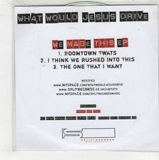 (GQ462) What Would Jesus Drive, We Made This EP - 2008 DJ CD