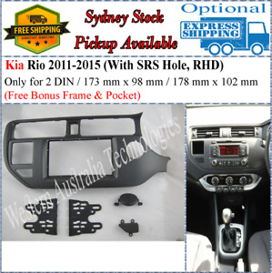 Fascia facia Fits Kia Rio 2011-2015 (SRS Hole) Double Two 2 DIN Dash Kit
