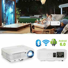 New Listing5000Lms Android 6.0 Wifi Blue-tooth Projector 1080p Online Home Theater Airplay
