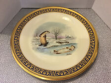 Lenox Plate Boehm Woodland Wildlife Collection - Otters - 1982 - Signed