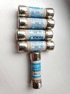 SC-2 - 2 Amp Fast Acting Class G Melamine Tube 600V Ul Listed (Pack of 5)