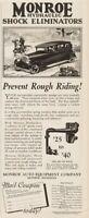 1928 Monroe Shock Absorbers Ad Prevent Rough Riding Horse Cowboy Art MI