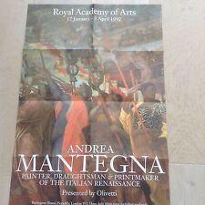 Exhibition Poster  Andrea Mantegna RA 17Jan 05 Apr 1992
