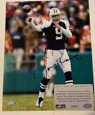 Tony Romo Autographed Dallas Cowboys 8x10 Photograph