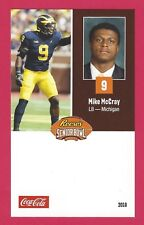 MIKE McCRAY 2018 REESE'S SENIOR BOWL RC MICHIGAN WOLVERINES ROOKIE CARD