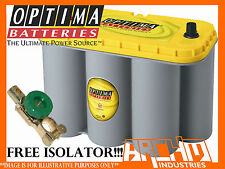 OPTIMA D31A YELLOW TOP AGM DEEP CYCLE, DRY CELL, BATTERY 900CCA -WILL SUIT 100AH