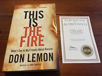 """Don Lemon Signed """"This Is the Fire"""" FIRST EDITION Hardcover CNN- New With COA"""