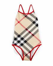 NWT 100% Auth Burberry Kids Saba Check-Print Swimsuit Sz 5
