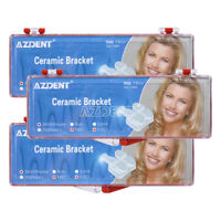 "3X AZDENT Dental Ceramic Brackets Braces MBT 0.022"" 3-4-5 Hooks 5*5"