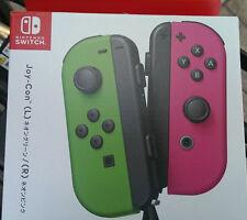 Nintendo Switch Joy-Con Controller Neon Green Pink Splatoon 2 Version Airmail