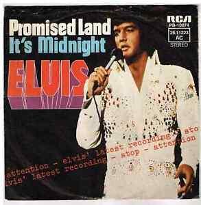 """Elvis  PRESLEY     Promised land    7"""" 45 Tours SP"""