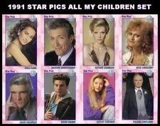1991 Star Pics All My Children - Complete Set of 72 - NEAR MINT-MINT