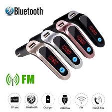Black Bluetooth Hands-free Car FM Transmitter Wireless Radio Adapter Mp3 Player