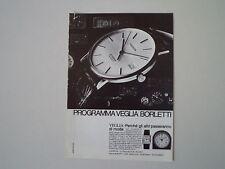 advertising Pubblicità 1982 OROLOGIO VEGLIA BORLETTI JUVENIA