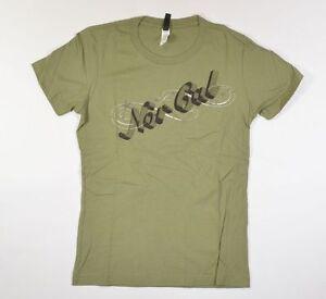Nor Cal Estrella Mujer Camiseta Manga Corta Mediano Verde Militar Nuevo
