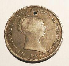 Pièces de monnaie de l'Espagne en argent