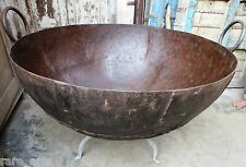 Antique Iron Kadai Fire Bowl Large Firepit original hand made cooking pot C1900