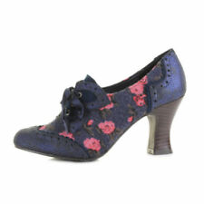Lace Up Casual Cuban Heels for Women
