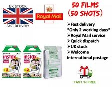 50 Shots Fuji Instax Mini Film for Fujifilm Mini 8 7s & Mini 90, 50 Cameras SALE