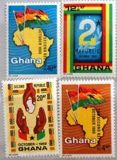 GHANA 1969 382-85 A 371-74 Inauguration 2nd Republic Map Karte Africa MNH