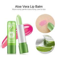 Aloe Vera Natual Jelly Lipstick Change Color Temperature Moistourizing Lip UK.