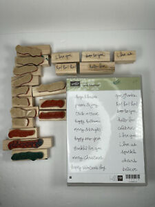 Stampin' Up! GOOD GREETINGS Retired Clear-mount sentiments words stamp set